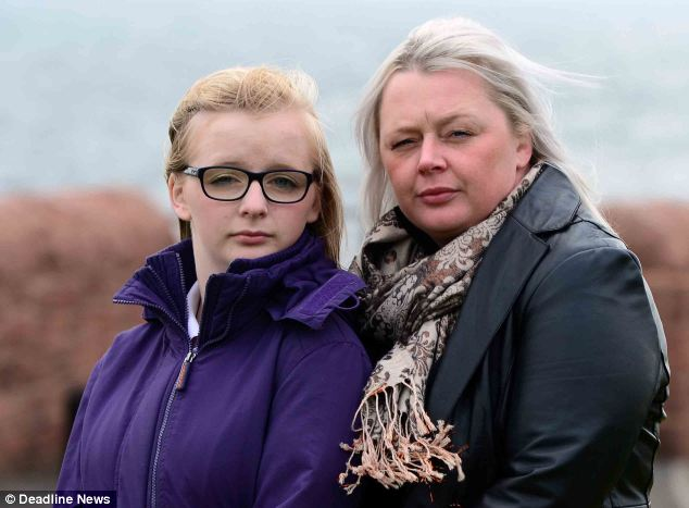 Chloe (pictured with her mother, Rebecca) is hoping to receive a £120,000 compensation payout from the Vaccine Damage Payments Scheme
