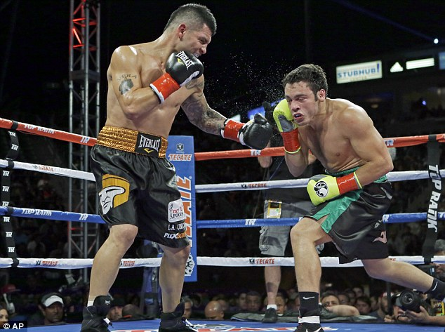 Controversy: Bryan Vera (left) landed more punches than Julio Cesar Chavez Jnr but was denied the victory