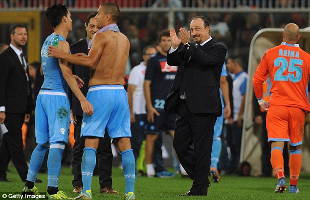 Stunning start: Benitez has guided Napoli to five wins from their opening six Serie A matches since taking over