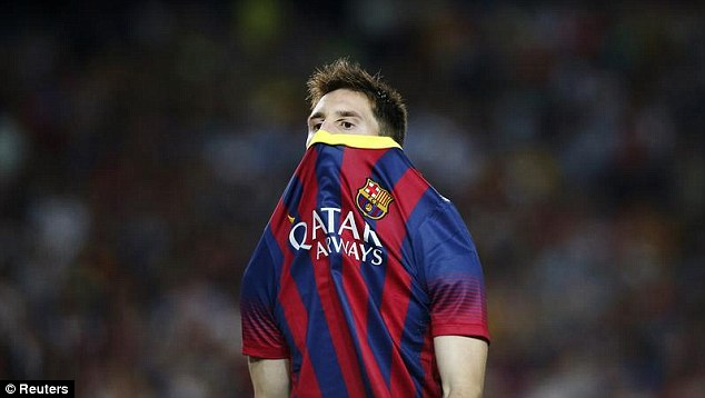 Missing: The world's best player, Lionel Messi, is unavailable for selection away to Celtic on Tuesday