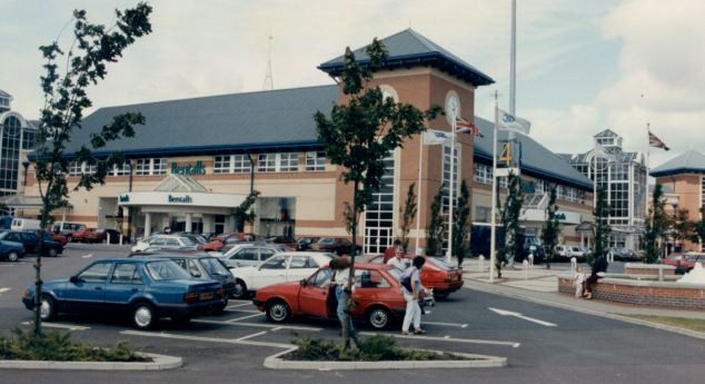 Watts was banned in a crackdown on road racers near Lakeside Shopping Centre, Thurrock, Essex (pictured)