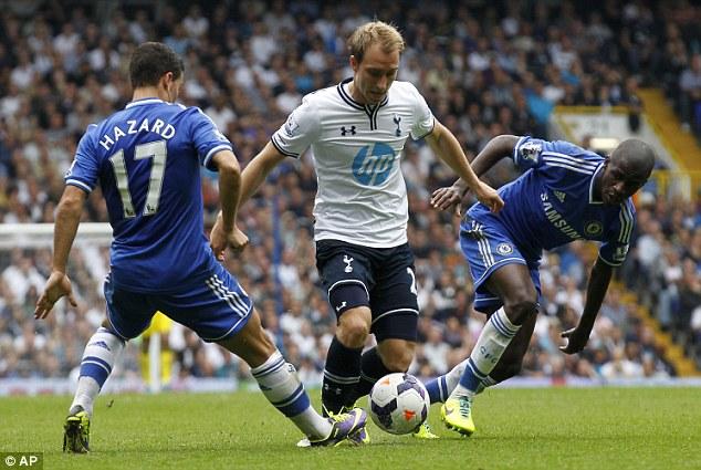 Well travelled: Tottenham's Christian Eriksen was among those to enjoy Tottenham's sightseeing