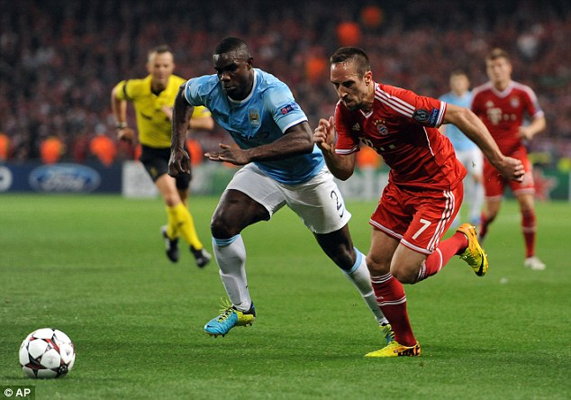 Back to basics: Micah Richards and Bayern Munich's Frank Ribery battle for the ball at the Etihad