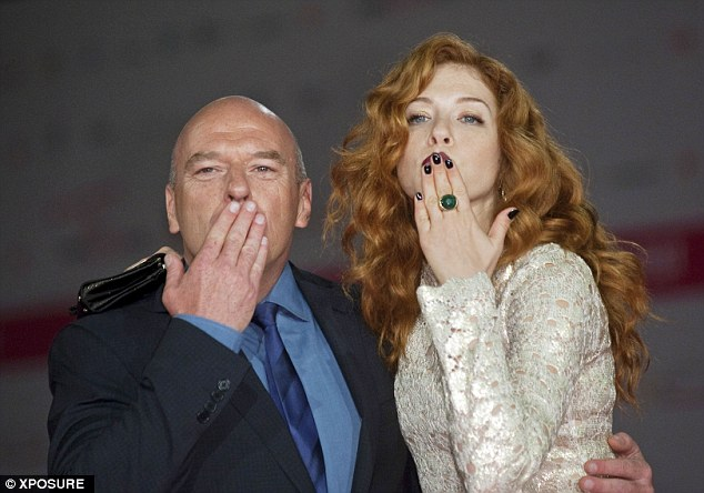 They love me, they really love me: Dean and Rachelle blew photographers a kiss on the Fiction Festival red carpet