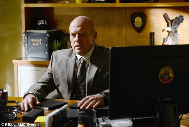 Hank no more: Dean Norris played DEA agent Hank Schrader in the hugely popular series Breaking Bad