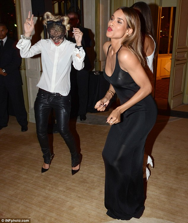 Getting down: Ciara kept the party going after the premiere and danced away with Rita Ora
