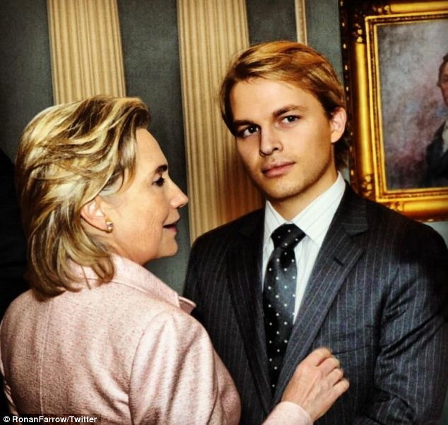 Special role: Ronan is a former U.S. Global Youth Issues envoy and worked alongside Hillary Clinton