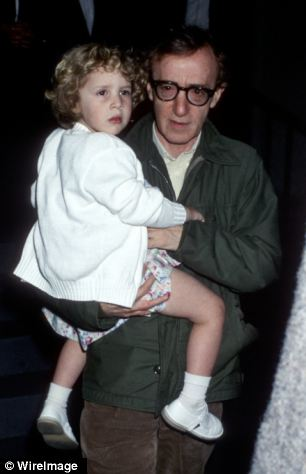 Claims: Dylan Farrow, pictured with adopted father Allen in 1989, claimed he sexually abused her