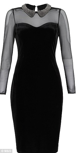 Back to black: The dresses are available in brighter reds and more classic blacks and cost £59 each