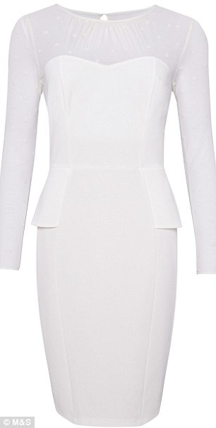 All white: M&S claim that their dresses make you look instantly slimmer