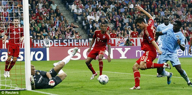 Shocker: Manchester City conceded two soft Mario Gomez goals at the Allianz to go 2-0 down