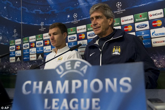 Optimistic: Manuel Pellegrini is hopeful that City can get all three points at the Etihad