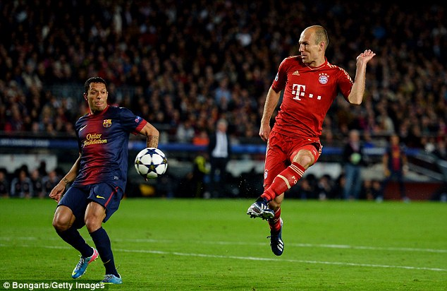 Rampant: Bayern have scored 13 goals in their previous five Champions League games
