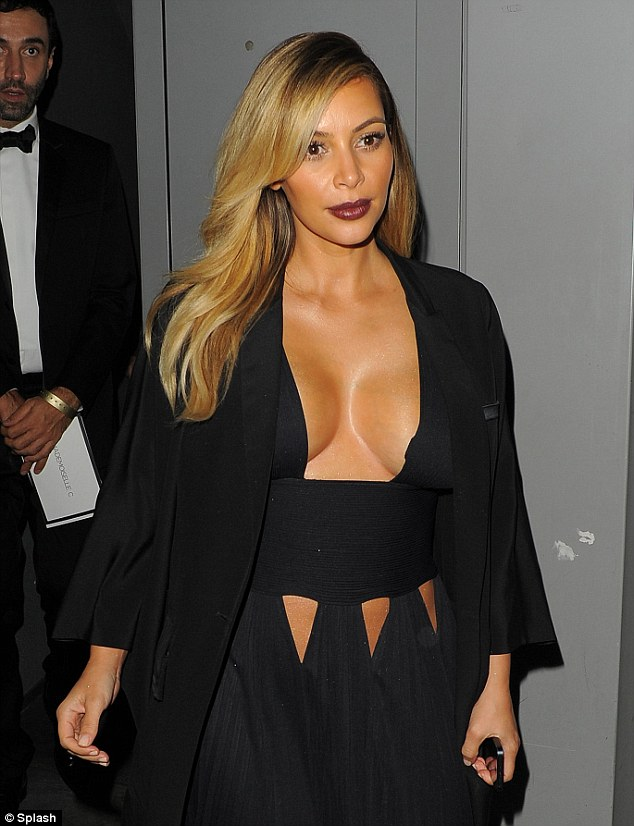 The latest trend? Kim Kardashian and her A-list friends have been sporting a new trend in Paris: to show off extreme cleavage