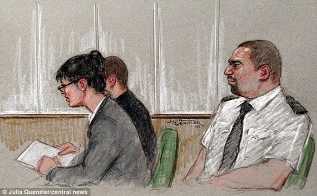 Terror trial: The suspect, who cannot be named, is accused of stockpiling weapons to Columbine-style massacre in Loughborough