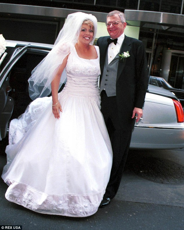 Tom Clancy is pictured at his wedding to freelance journalist Alexandra Marie Llewellyn in New York in 1999