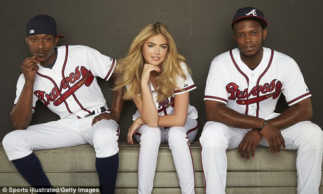 Luck of the Uptons: Upton brothers Justin and B.J. will be hoping Kate brings them some luck as they head into the MLB Playoffs