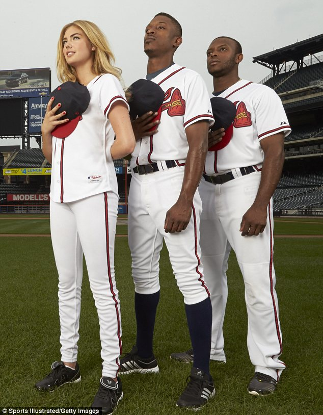 Upton pride: The three Uptons pose at Citi Field, home of the New York Mets, for the latest issue of Sports Illustrated