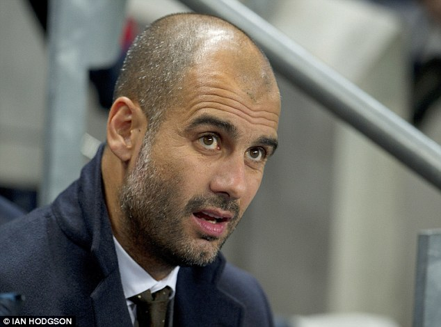 History bid: Guardiola won the Champions League twice with Barcelona