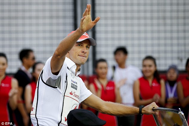 Look out: Button believes the comments could come back to haunt the World Champion next year