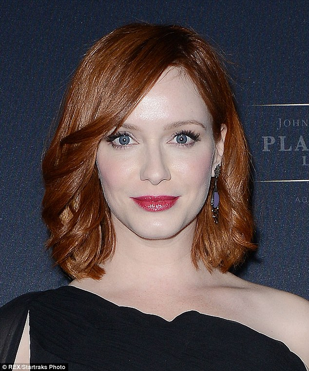 Flawless: The four-time Emmy nominee accentuated her alabaster complexion with Cabernet lips and lustrous lashes