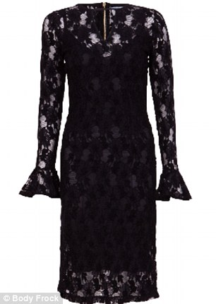 Slimming: According to the brand, the Body Frock dresses, which start at £155, should fit slim and taut like a corset