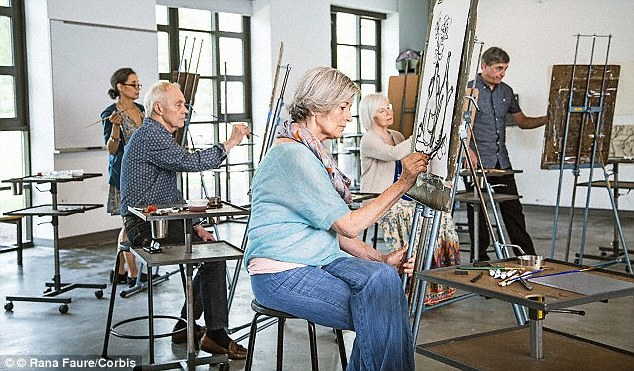 Finding new passions: Researchers suggested that pensioners should take up several 'mentally demanding hobbies' to fill the void left by not working