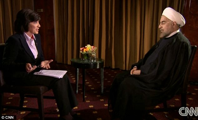 Public steps: During an interview with CNN's Christiane Amanpour, Rouhani made the landmark step of acknowledging the Holocaust, which was previously denied by more conservative administrations