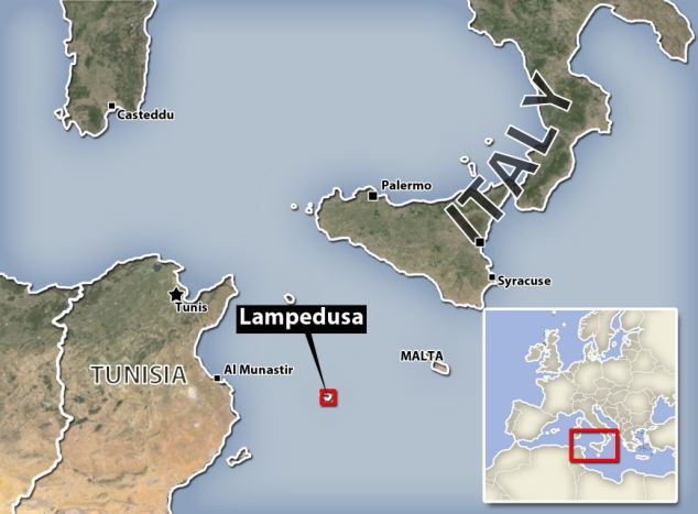 Tragedy: The ship apparently capsized, spilling the passengers into the sea near Conigli island