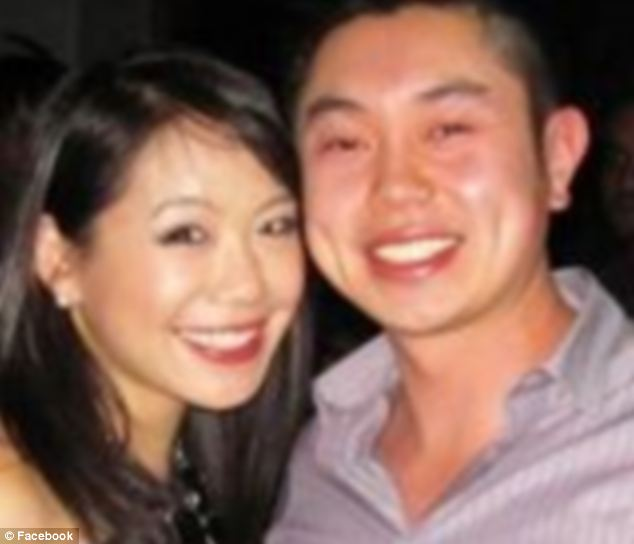 Fearful: Alexian Lien and his wife Roslyn Ng have revealed how they were just trying to protect their family when their car plowed down a group of bikers that had cornered them in New York City