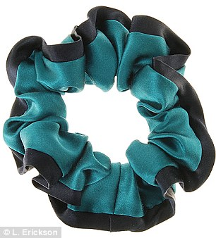 L. Erickson is also adding an Heirloom product to the mix, selling a silk charmeuse scrunchie for $52 on its website (left); meanwhile Marc by Marc Jacobs has a few on offer at Bloomingdale's (right)