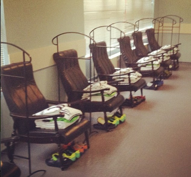 The glamour of Europe: Inside the Spurs dressing room before their Europa League clash in Russia