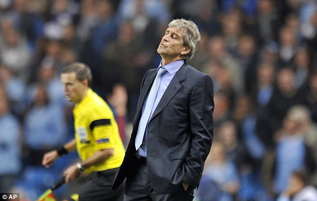 Decision time: Pellegrini could opt to leave Hart out against Everton