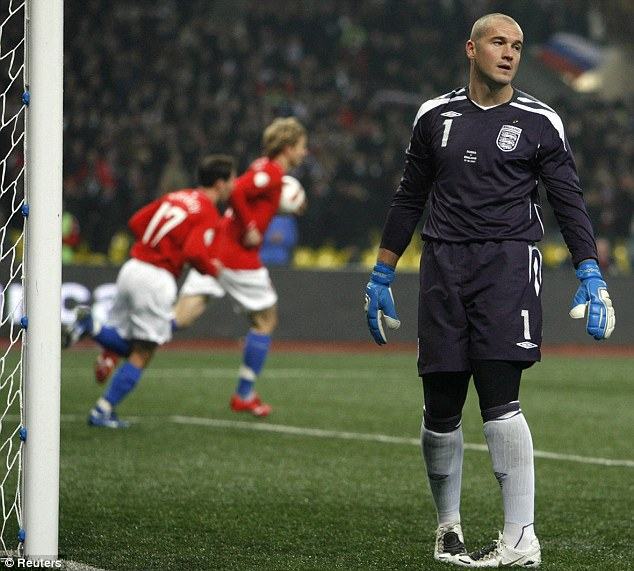 Dropped: Paul Robinson made several errors in Euro 2008 qualifying