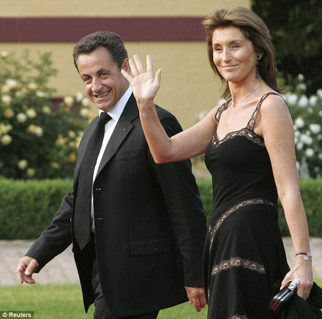 Happier times: Cecilia Attias married Sarkozy in 1997, but they divorced 11 years later