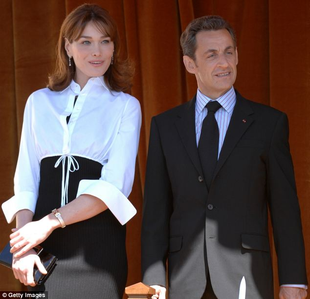 Moving on: Nicolas Sarkozy and Carla married only 80 days after meeting - they met at a party a month after her split with his second wife