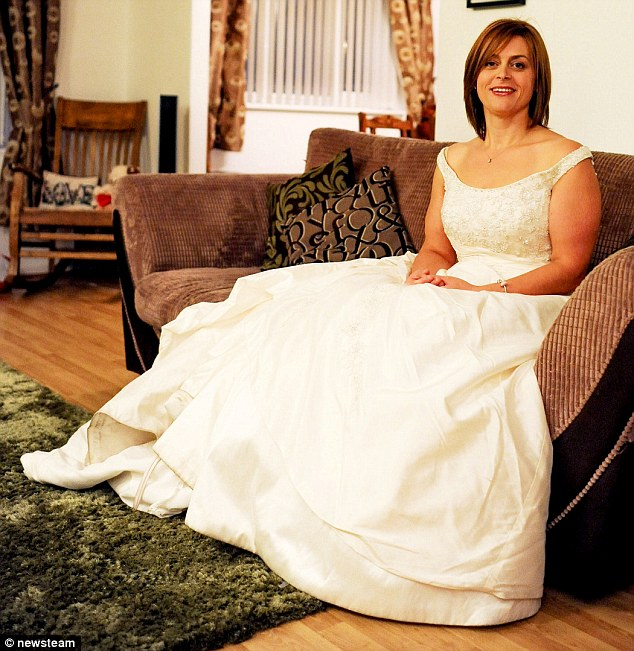 Jane and fiance Andy, 48, got engaged 12 years ago, but never organised anything until January 2011 when Jane was browsing for wedding dresses and fell in love with one