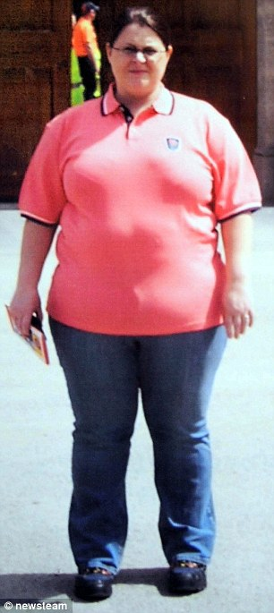 Jane before she decided to lose weight in 2011