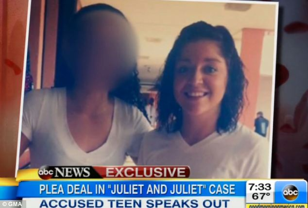 Together: Hunt is pictured with her alleged 14-year-old victim, who has not been identified