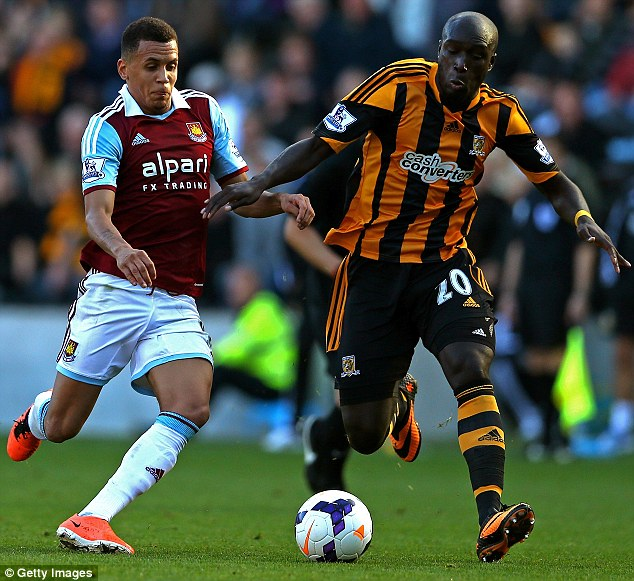Hammer time: Ravel Morrison has flourished since returning to West Ham this season and has won an England Under-21 call up