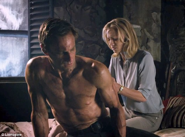 Let me help: In one scene, Australian actress Yvonne Strahovski tends to the damaged monster's wounds