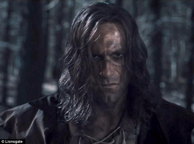 Luscious locks: At one point Frankenstein has beautiful waves in his hair
