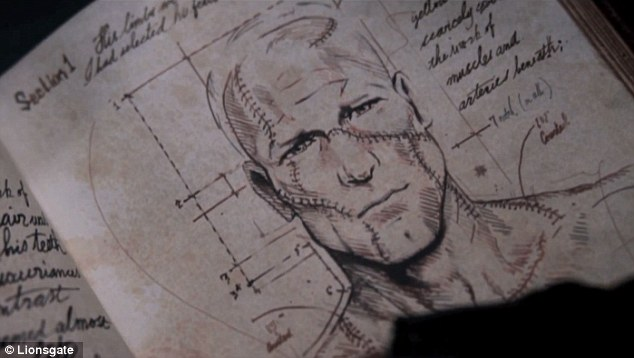 And that's how it's done: The construction of the monster's face is intricately drawn out