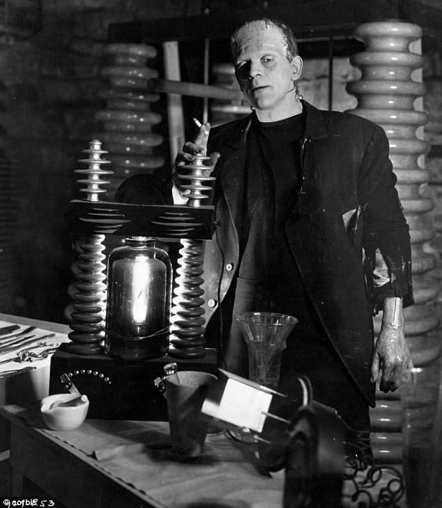 Back then: The sex appeal of Frankenstein's monster has come a long way since 1931, as his portrayal by Boris Karloff is significantly less attractive