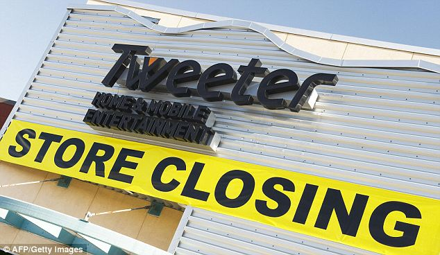 Confusion: Shares for electronics store, Tweeter, rose 1,400 per cent because investors thought they were buying into social media company Twitter