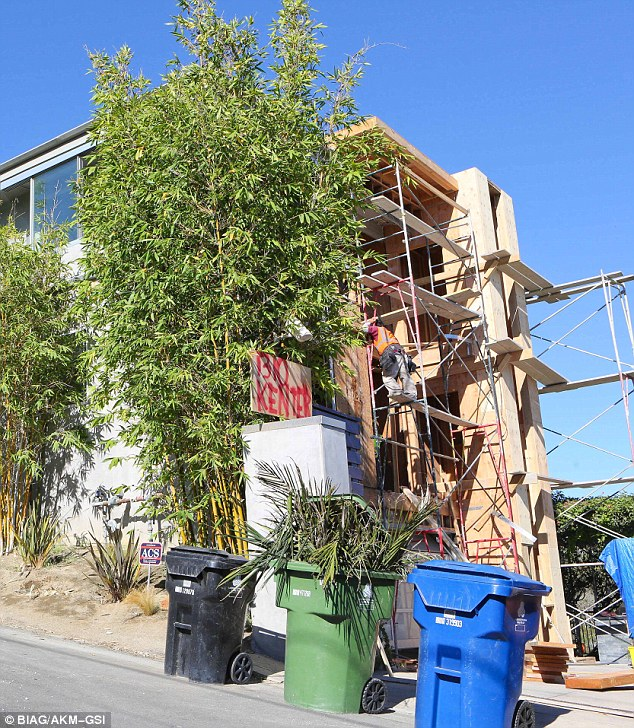 Under construction: The new abode appears to be undergoing some major renovations