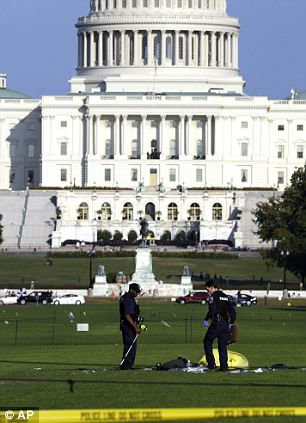 Important place: The incident occurred in full view of the U.S. Capitol