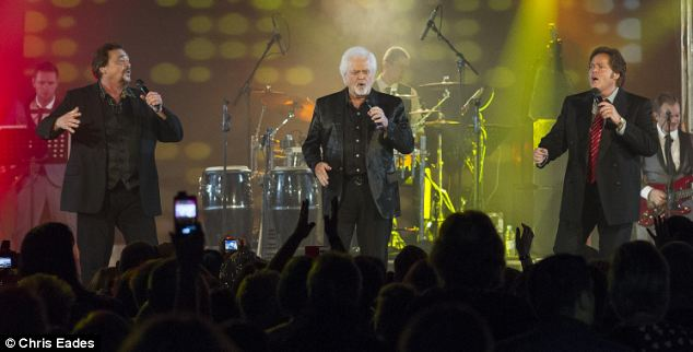 The Osmonds, who had a string of number one hits in the early 70s, performed at a nostalgia weekend at Butlins in Bognor