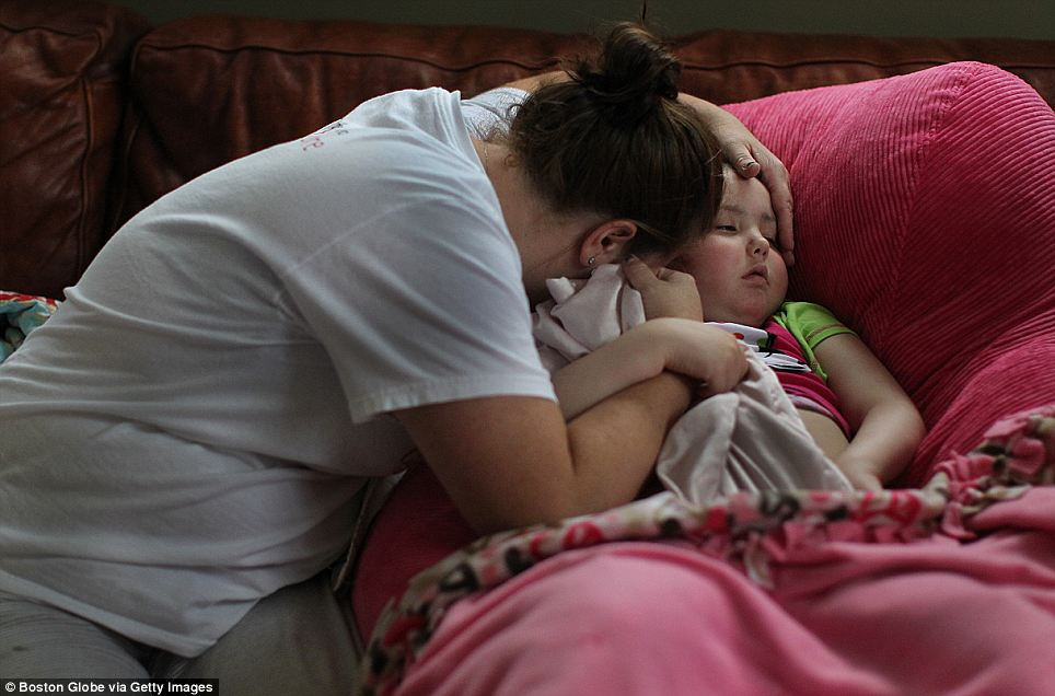 Dying: Caroline has lost the ability to communicate, but when her mother asks her if she can see God, she nods