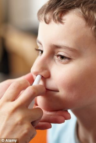 Discovery: Traces of pork gelatine have been found in the nasal spray flu vaccine, due to be rolled-out across Glasgow on Wednesday